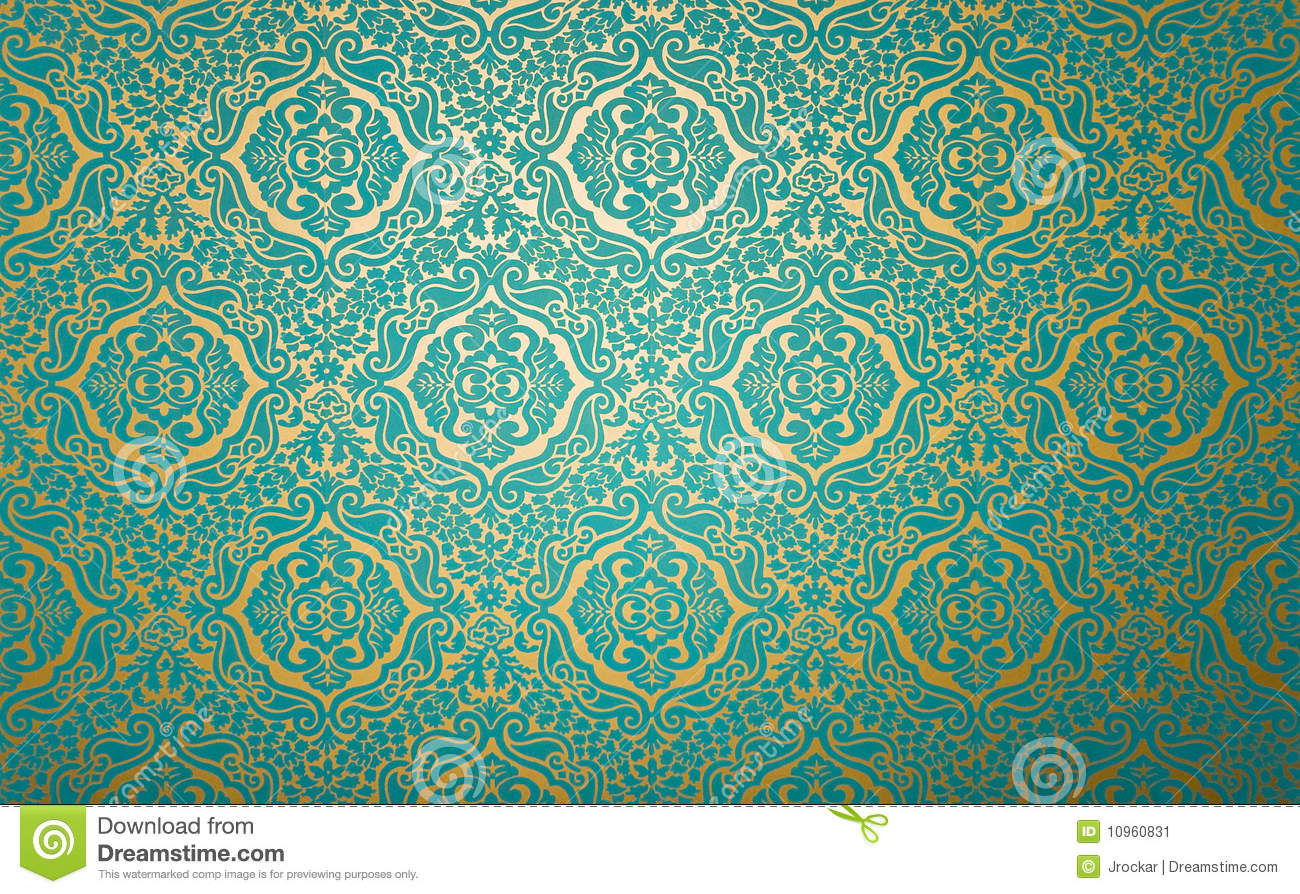 Fabric Wall Paper : Wall paper with fabric pattern stock image