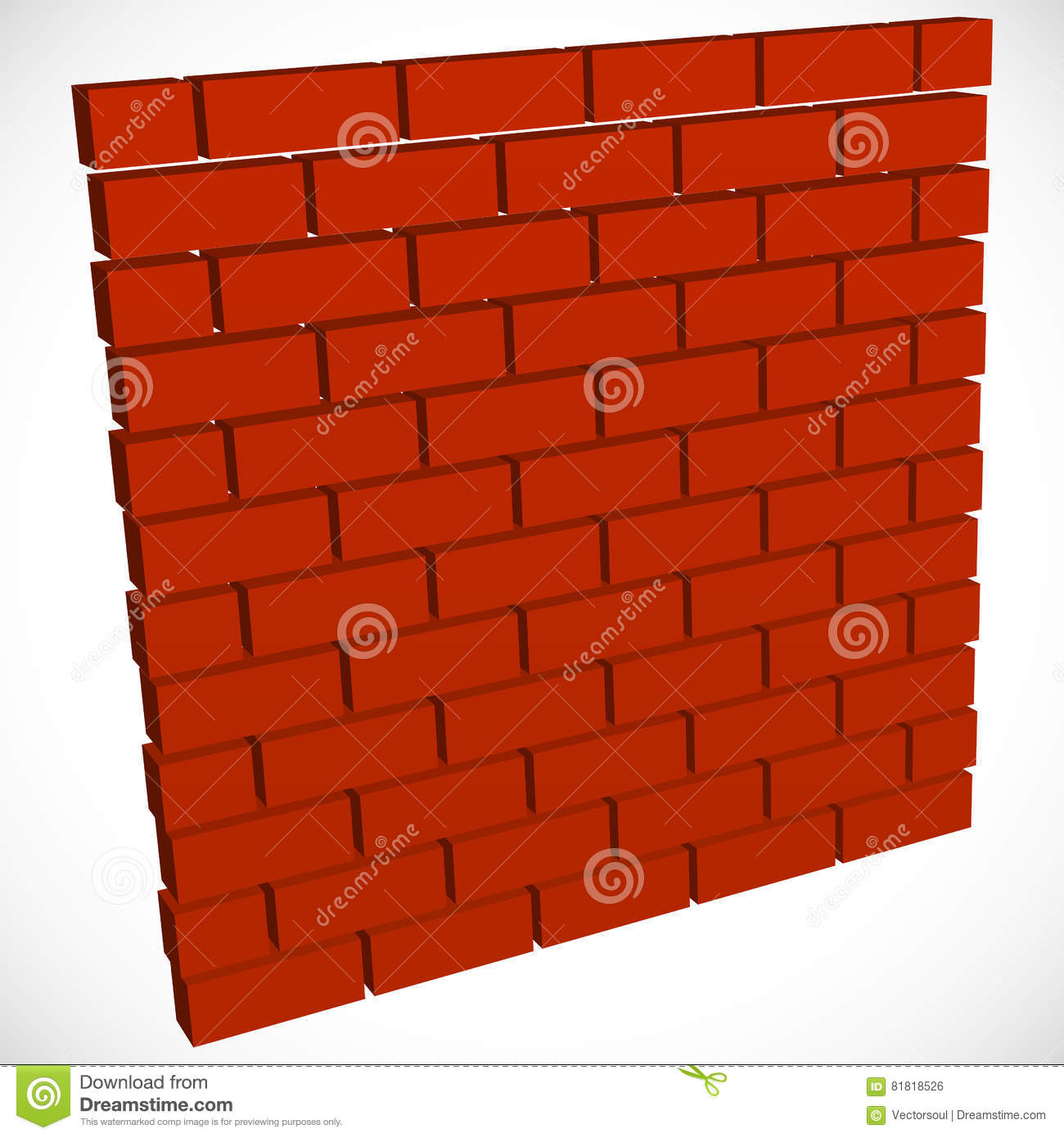 Wall In Perspective. Brickwall For Construction, Building ...