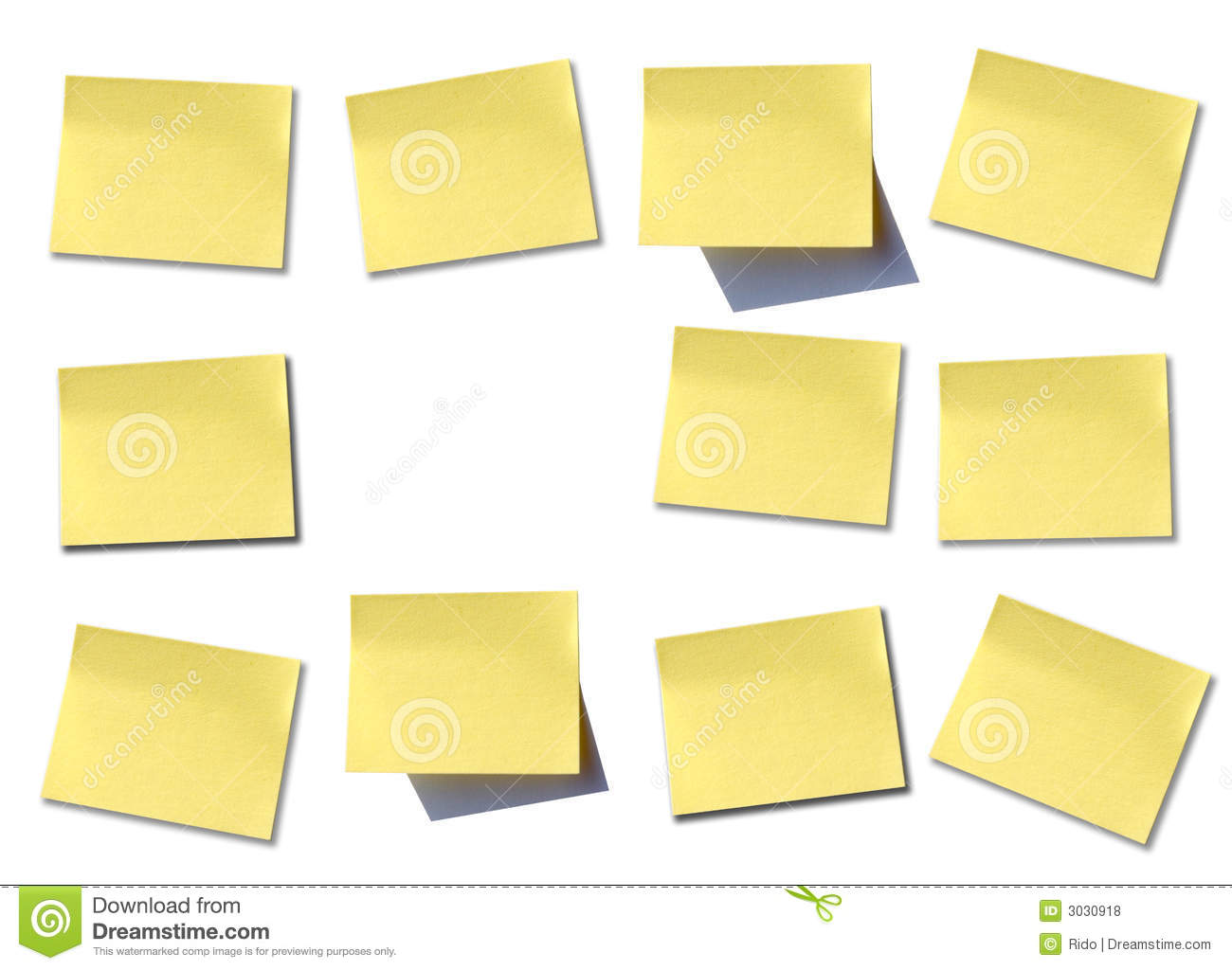Wall Of Post It Royalty Free Stock Photos - Image: 3030918