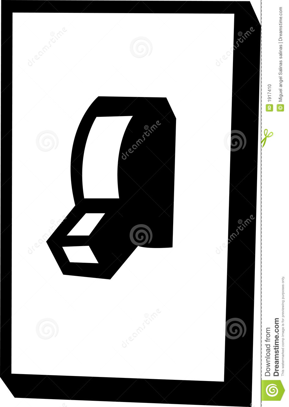 Wall Power Switch Vector Illustration
