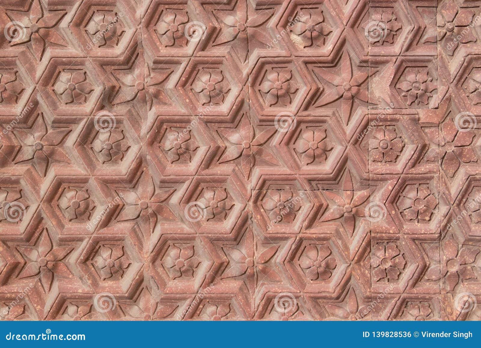 Ancient qutub minar wall pattern