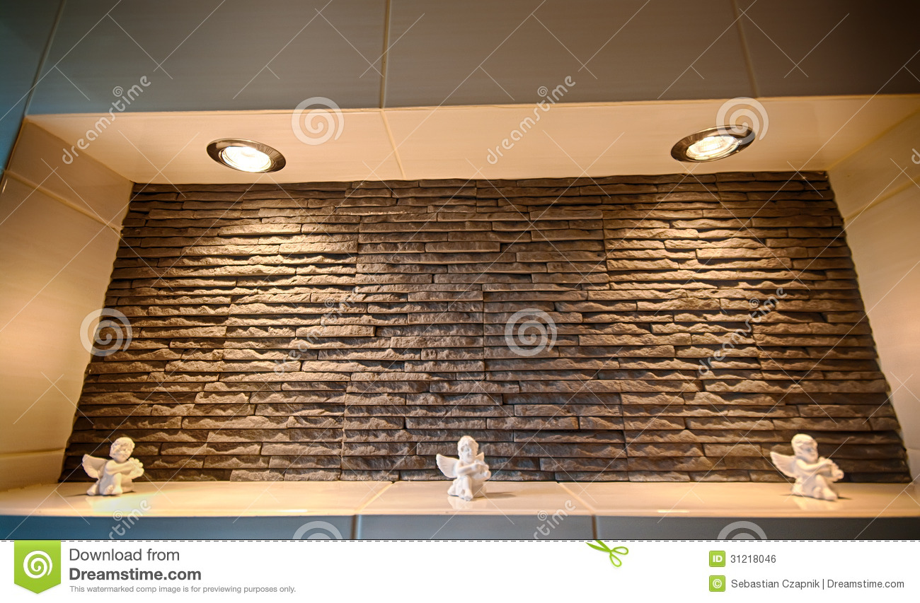 Wall Recess In A Bathroom Royalty Free Stock Image - Image ...