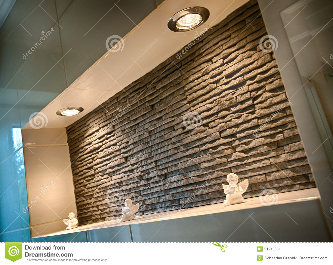 Wall Recess In A Bathroom Stock Image Image 31218061