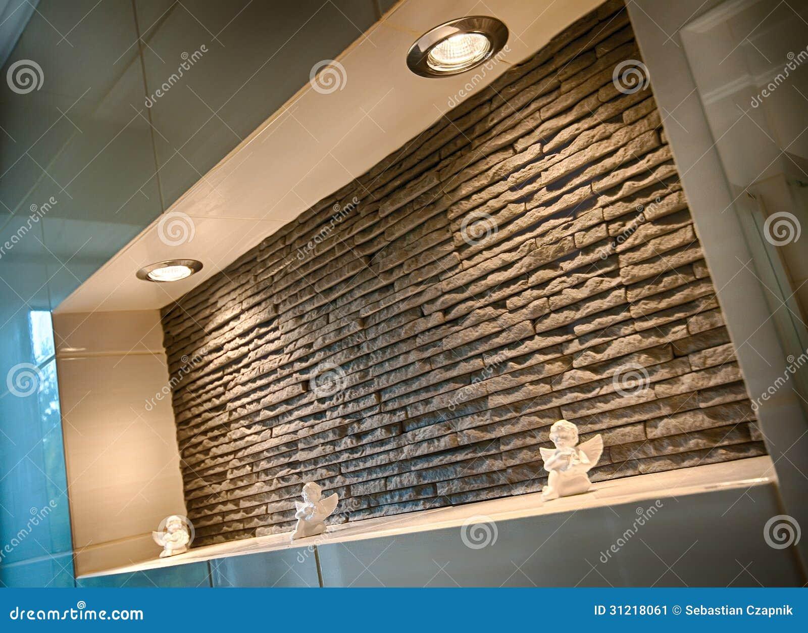 Recessed Shelf In Bathroom Wall