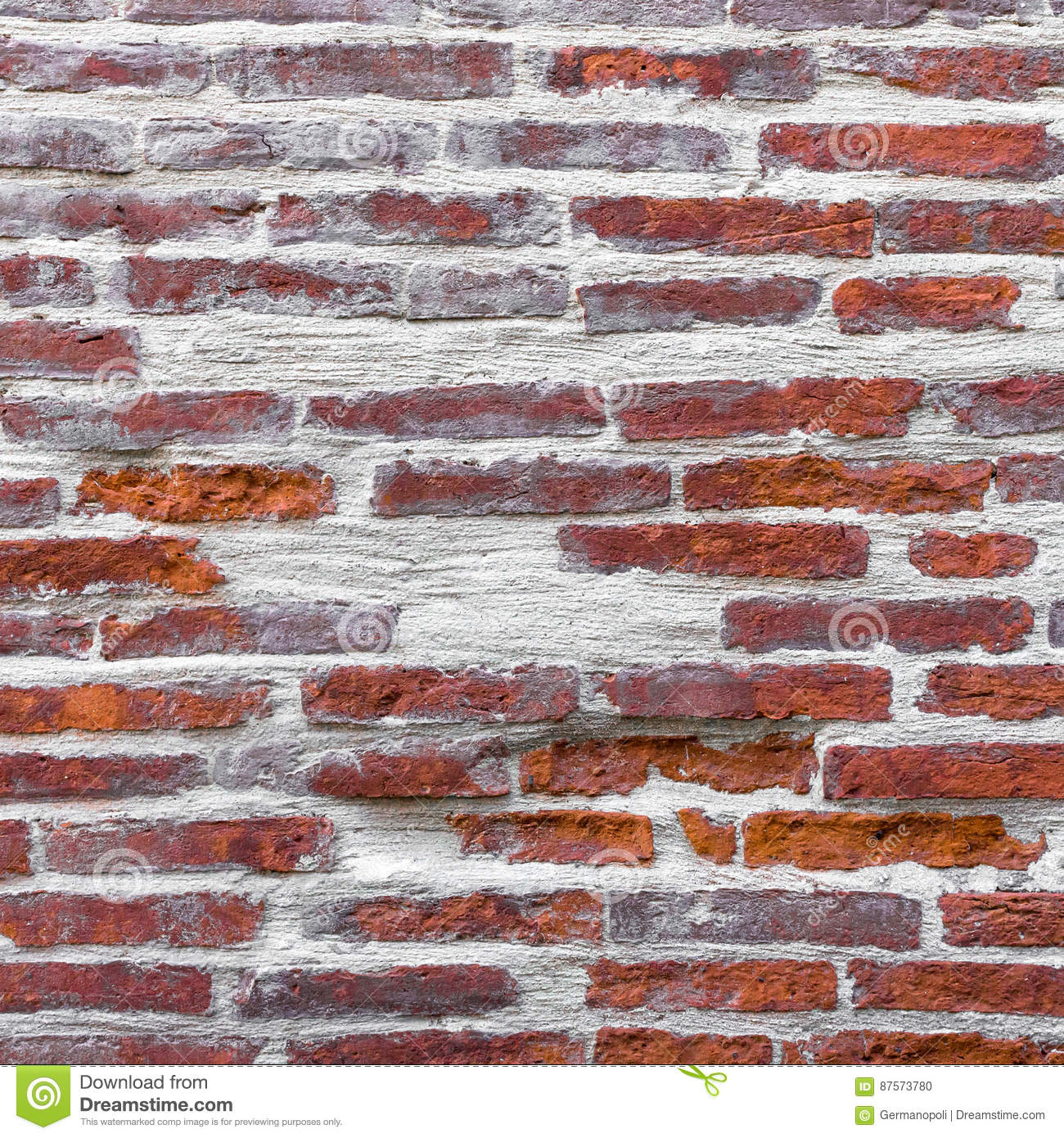 Wall with red bricks