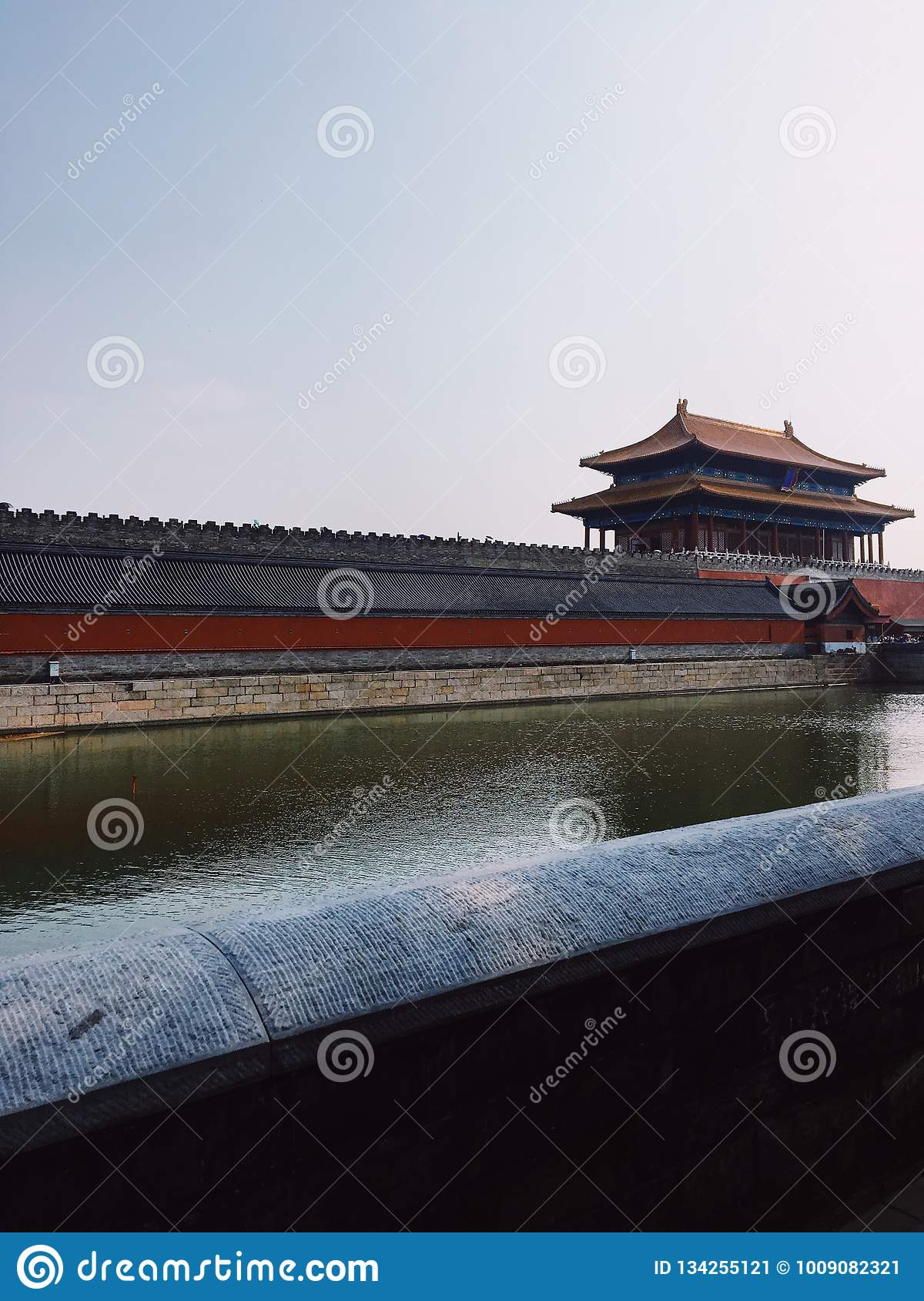 The wall and the river stock image  Image of vsco, long - 134255121
