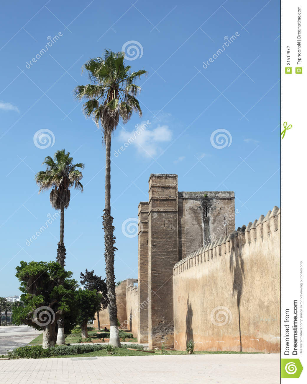 Wall in Sale, Morocco