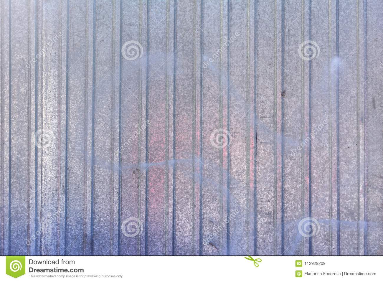 Wall Of Sheet Metal. Blank Background With Colored Blue Overflows ...