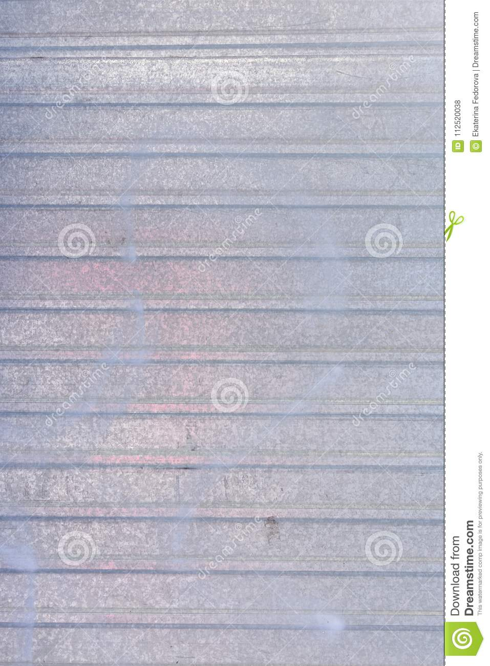 Wall Of Sheet Metal. Blank Background With Colored Gray Overflows ...