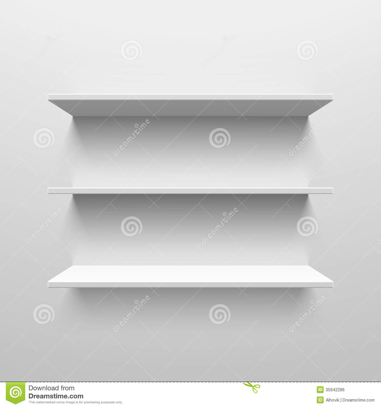 Wall Shelves Stock Vector Illustration Of Background