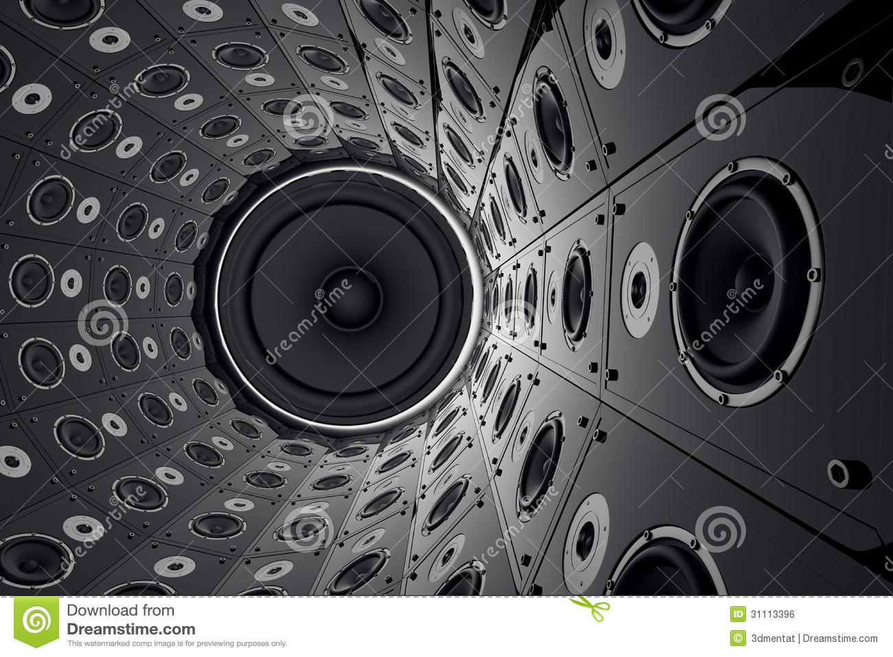 Wall Of Speakers Stock Illustration Illustration Of