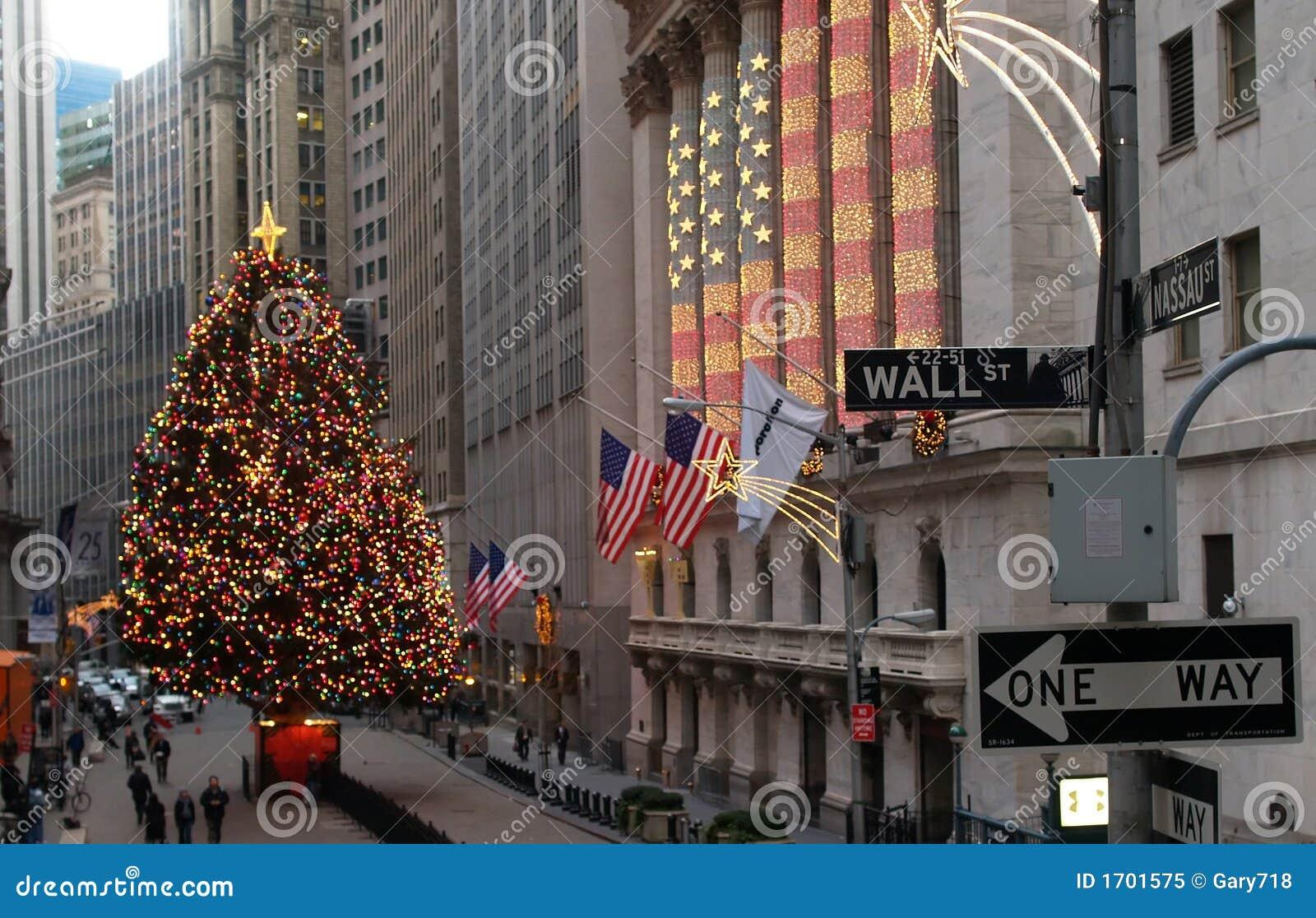 Wall Street à Manhattan inférieure