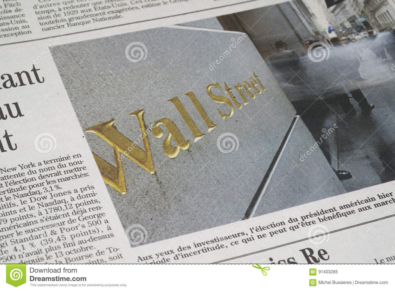 A Wall Street article