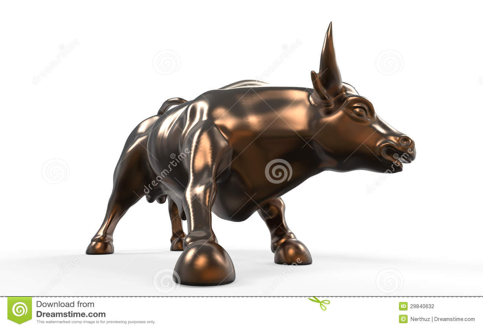 wall street chargeant la statue de taureau illustration. Black Bedroom Furniture Sets. Home Design Ideas