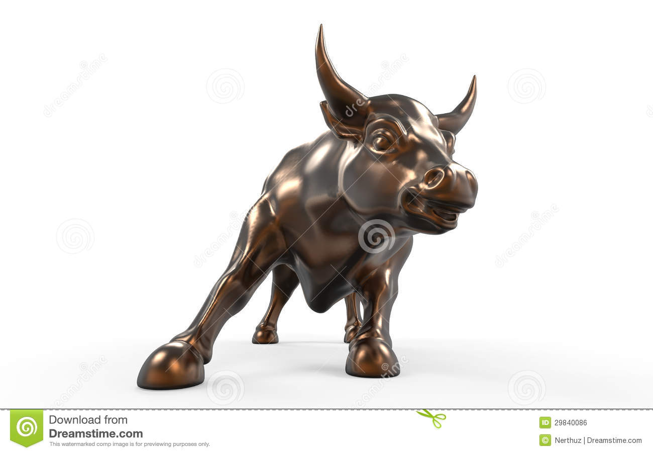 Wall Street Charging Bull Statue Royalty Free Stock Image ...