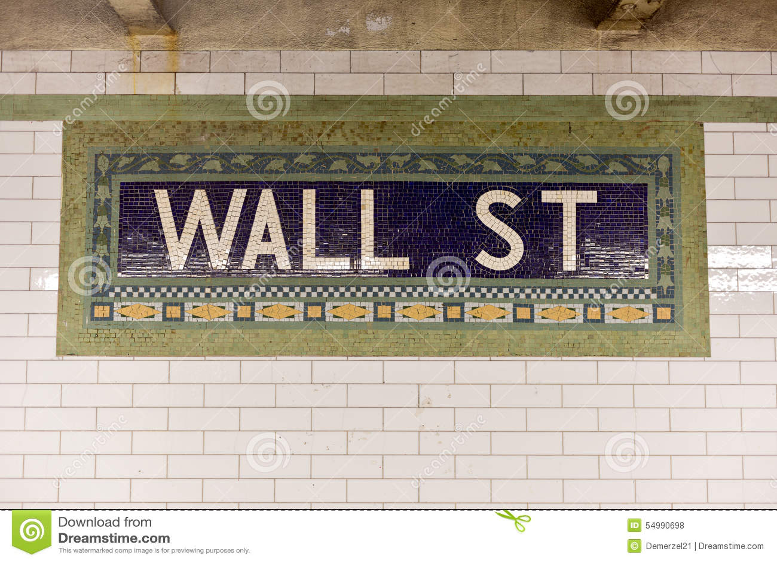 Wall Street gångtunnelstation, New York City