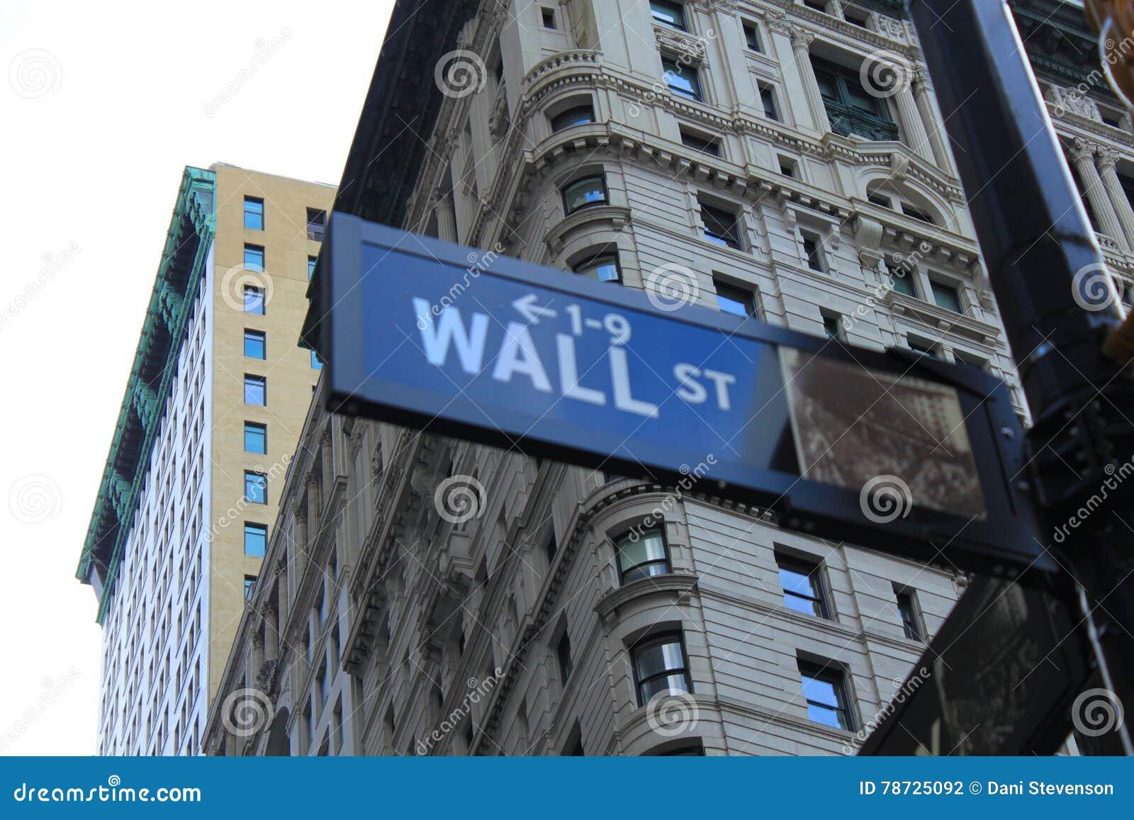 Wall Street tecken New York