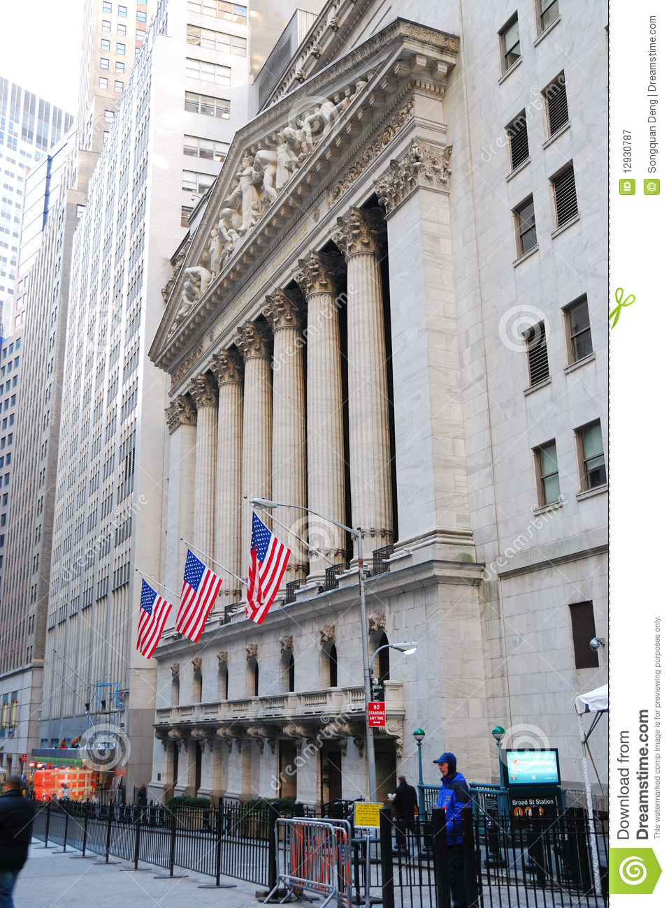 Wall Street View  New York City Editorial Photography