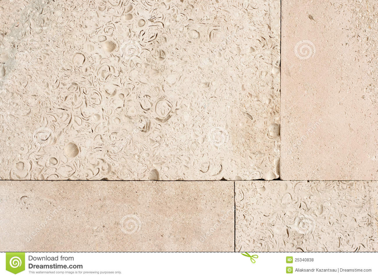 Wall Surface From Old Yellow Coquina Stone Stock Photo