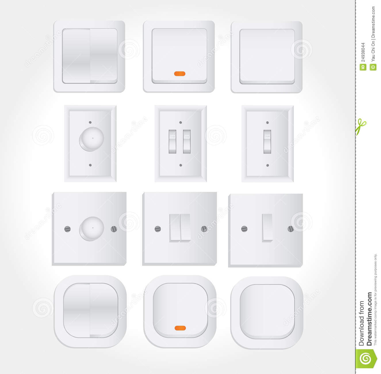 Wall switch and light switch stock vector illustration of wall switch and light switch aloadofball Choice Image
