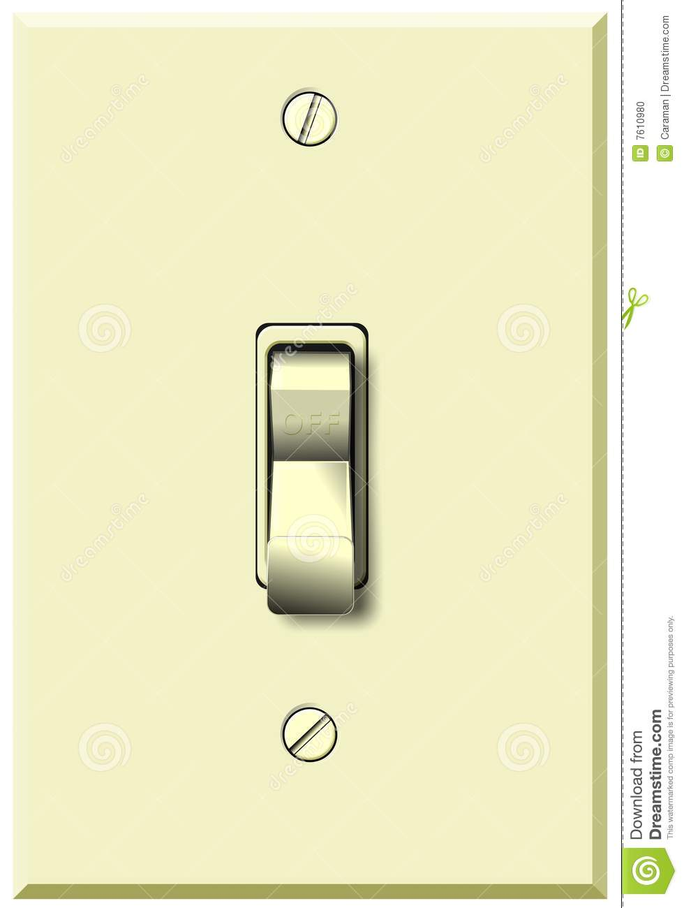 Wall Switch In Off Position Stock Illustration - Illustration of ... for Light Switch Off Position  104xkb