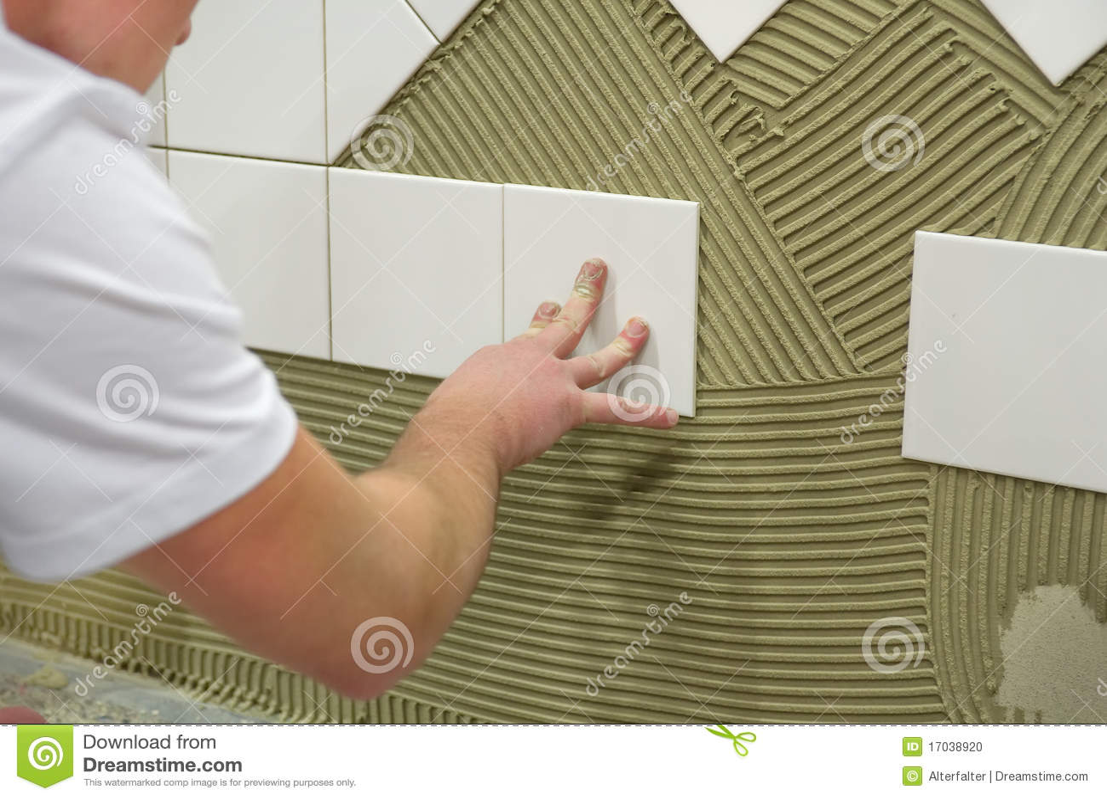 Wall Tile Glue Stock Photo Image 17038920