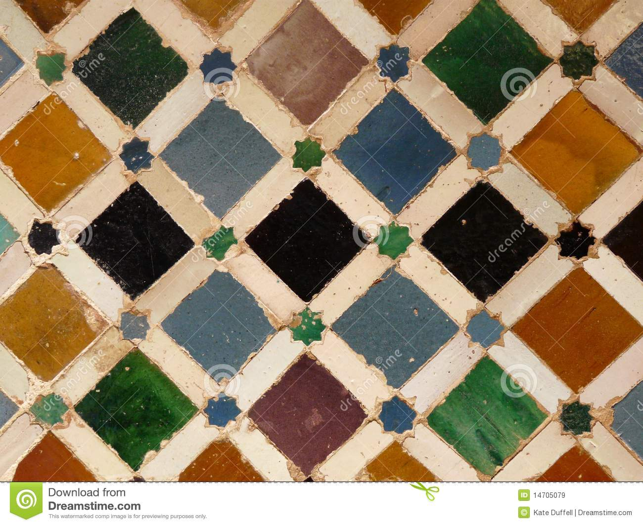 Wall Tiles At The Alhambra In Granada Spain Royalty Free