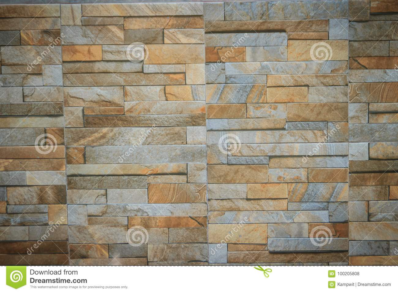Wall tiles patterned like natural split stone background. simulated