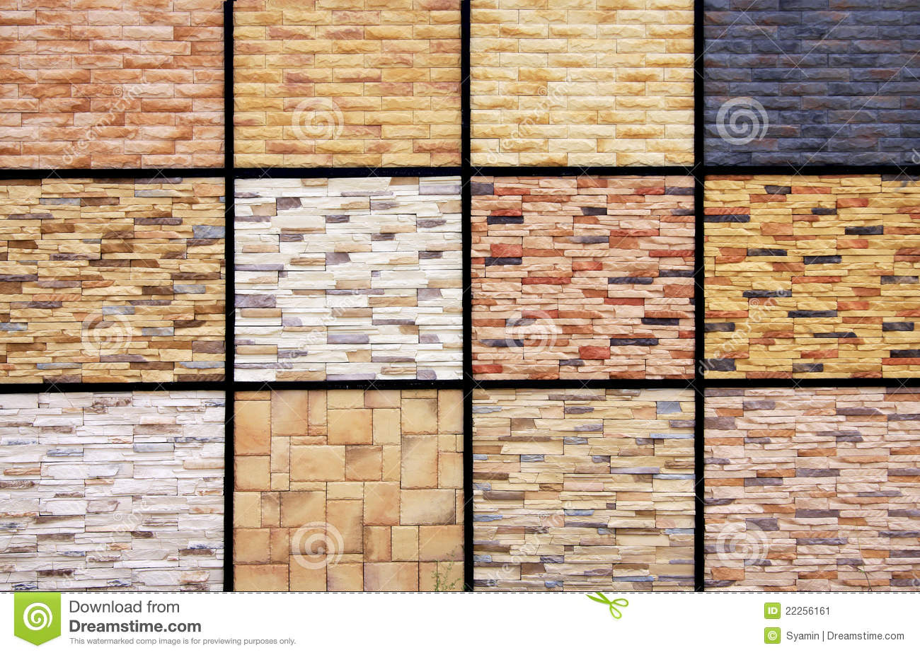 Wall Tiles Sample Stock Image Image Of Design Grid
