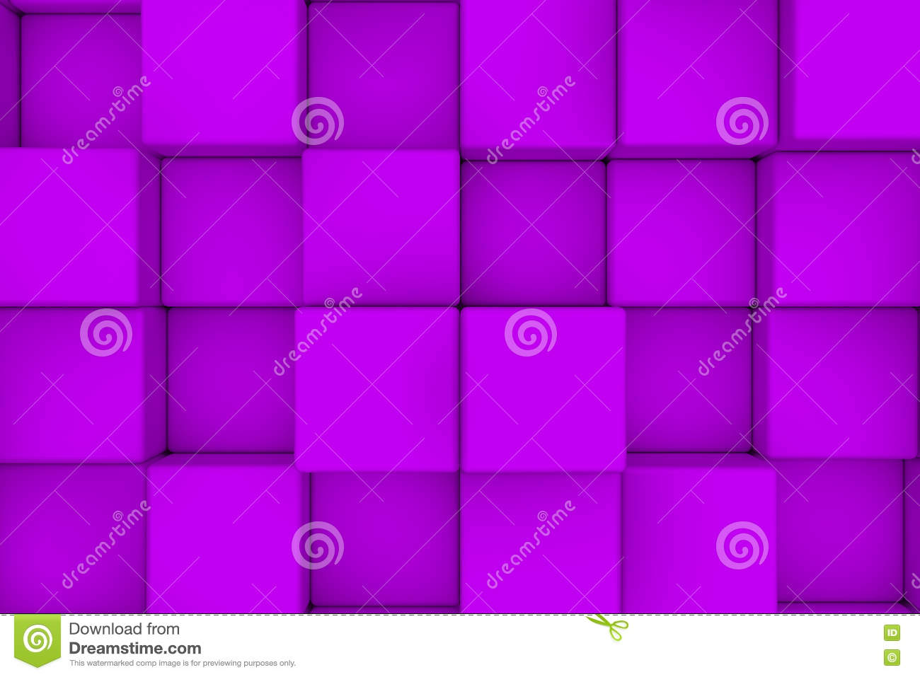 Wall of violet cubes