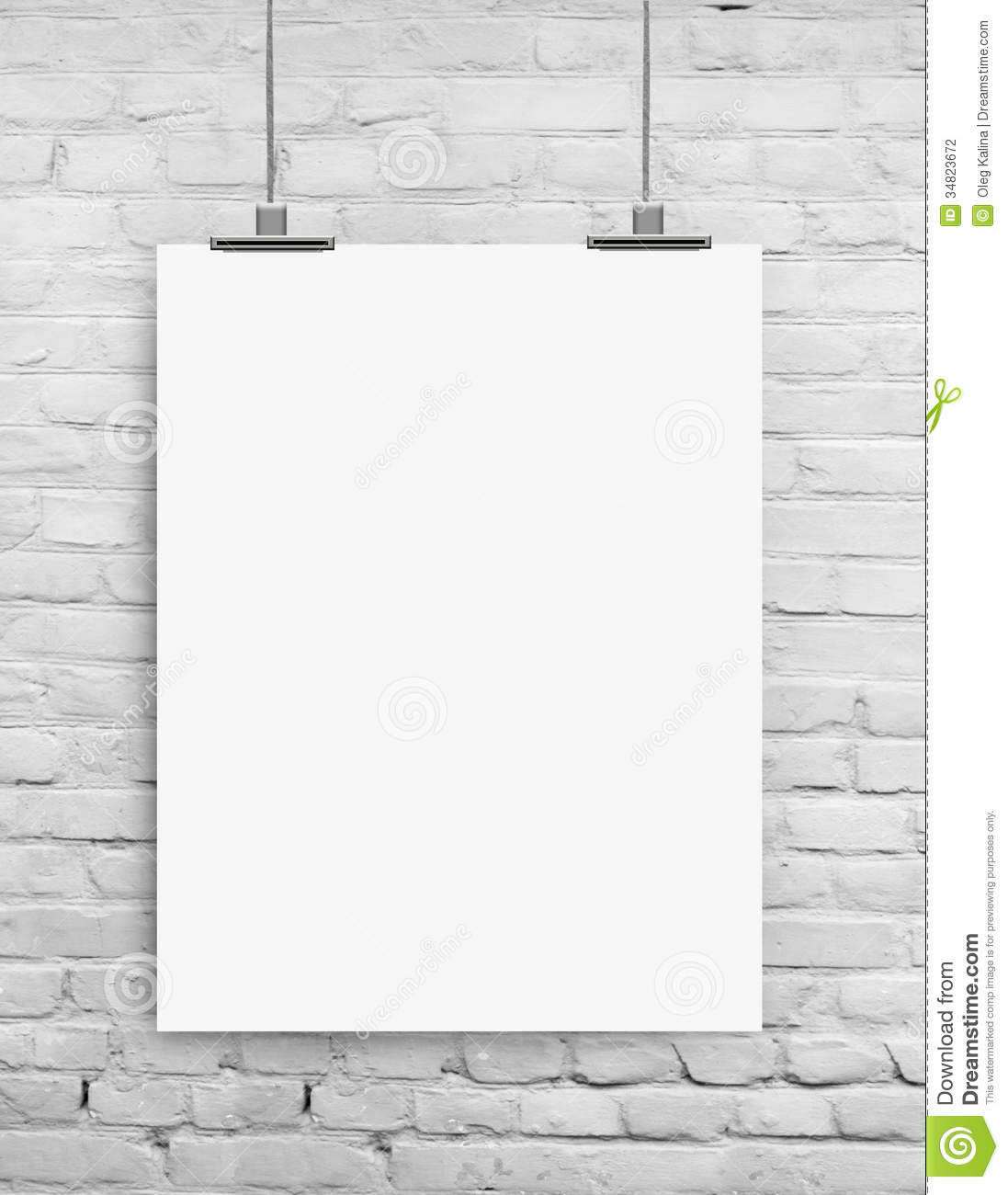 Wall stock photo image of frame paper empty blueprint for Wall to wall paper