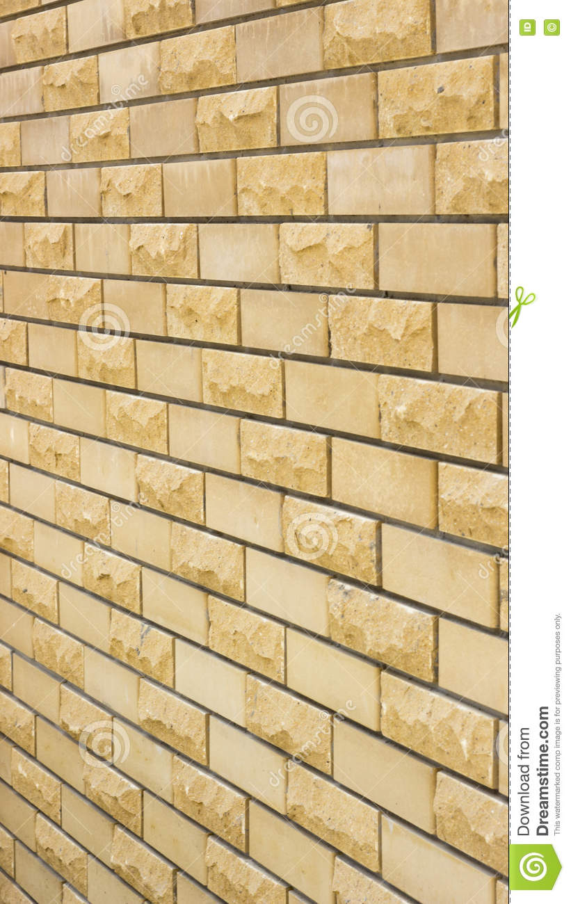 Wall Of A Wild Yellow Decorative Stone Stock Image - Image of ...
