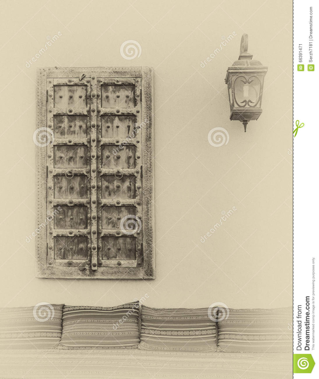 Wall Lamps Uae : The Wall With Window And Lamp Stock Illustration - Image: 66391471