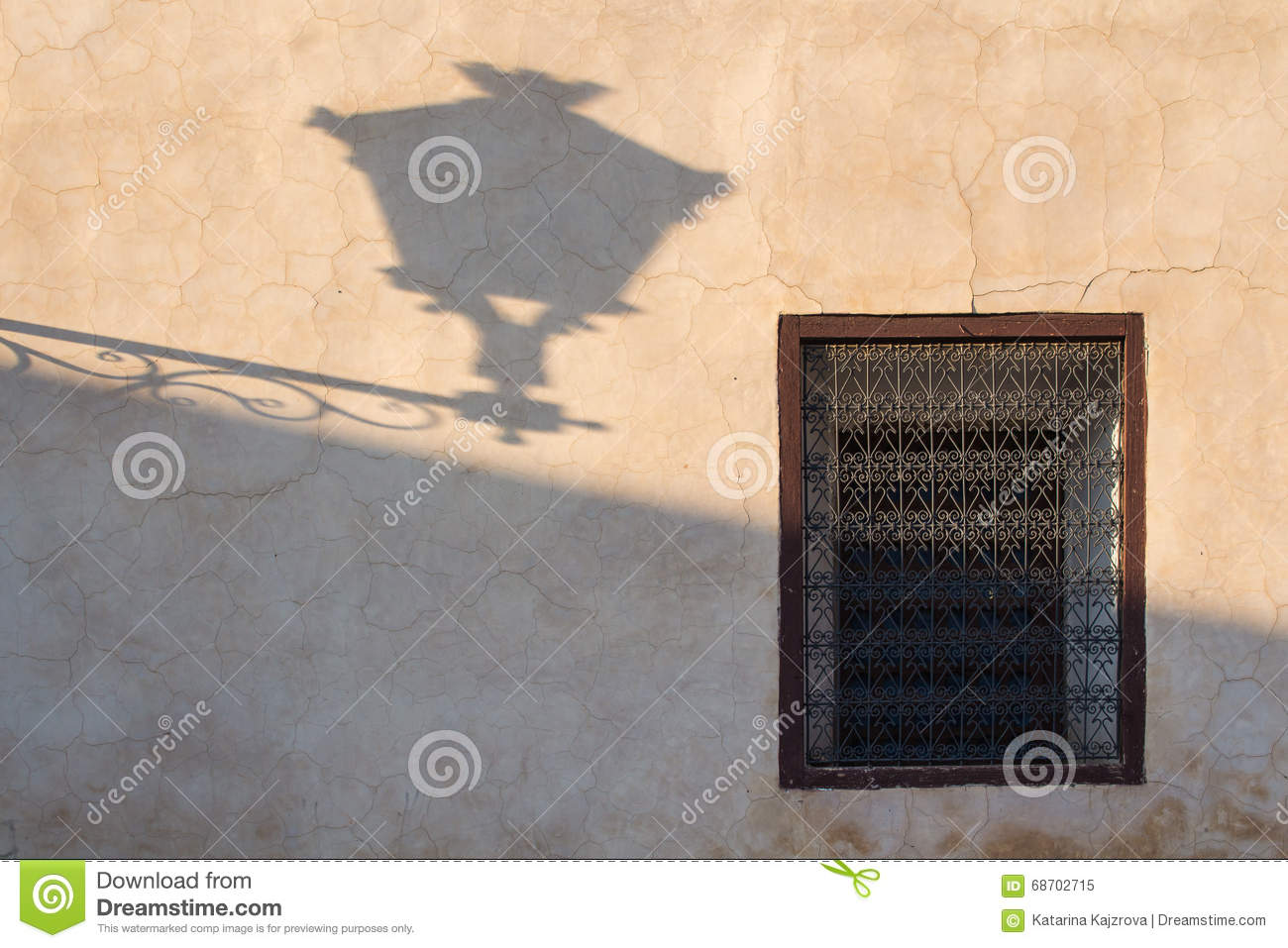Wall With A Window And Lantern Shadow Marrakesh Stock Image Image Of Arabic Traditional 68702715