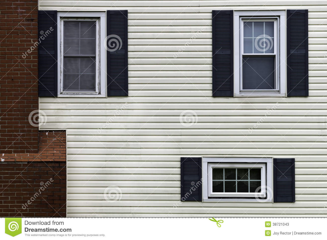 Wall and windows stock photos image 38721043 for Window shapes and sizes
