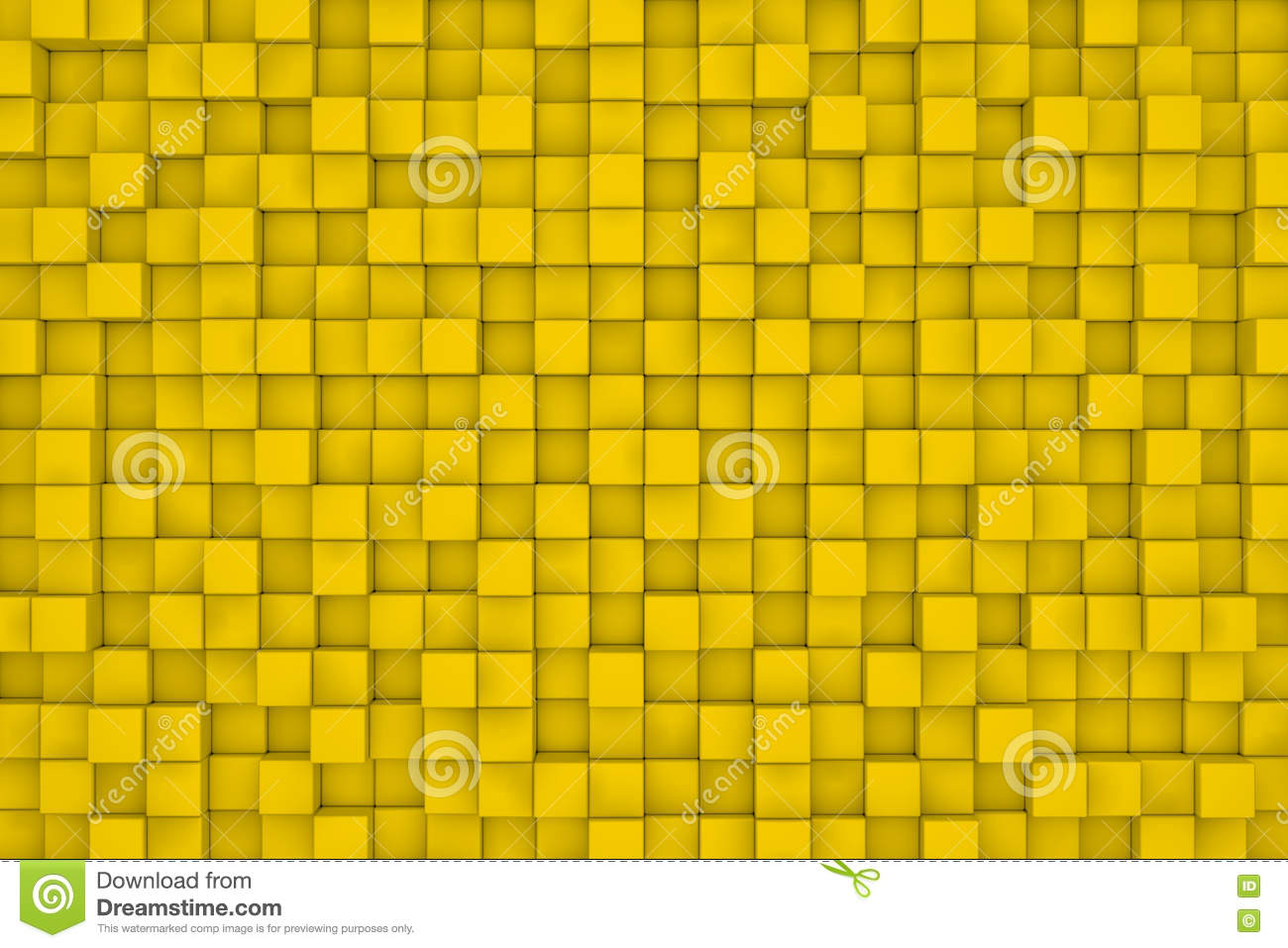 Wall of yellow cubes