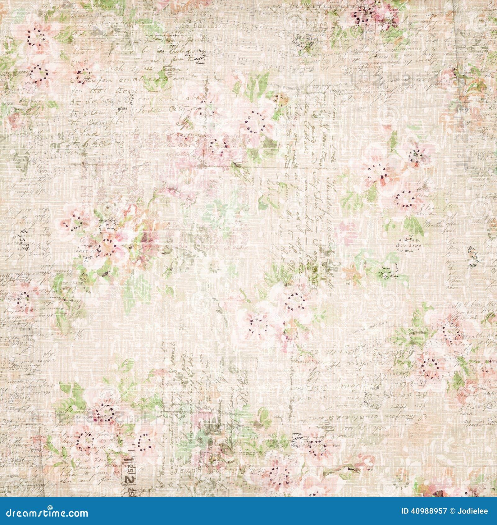 Wallaper chique floral gasto floral francês do vintage