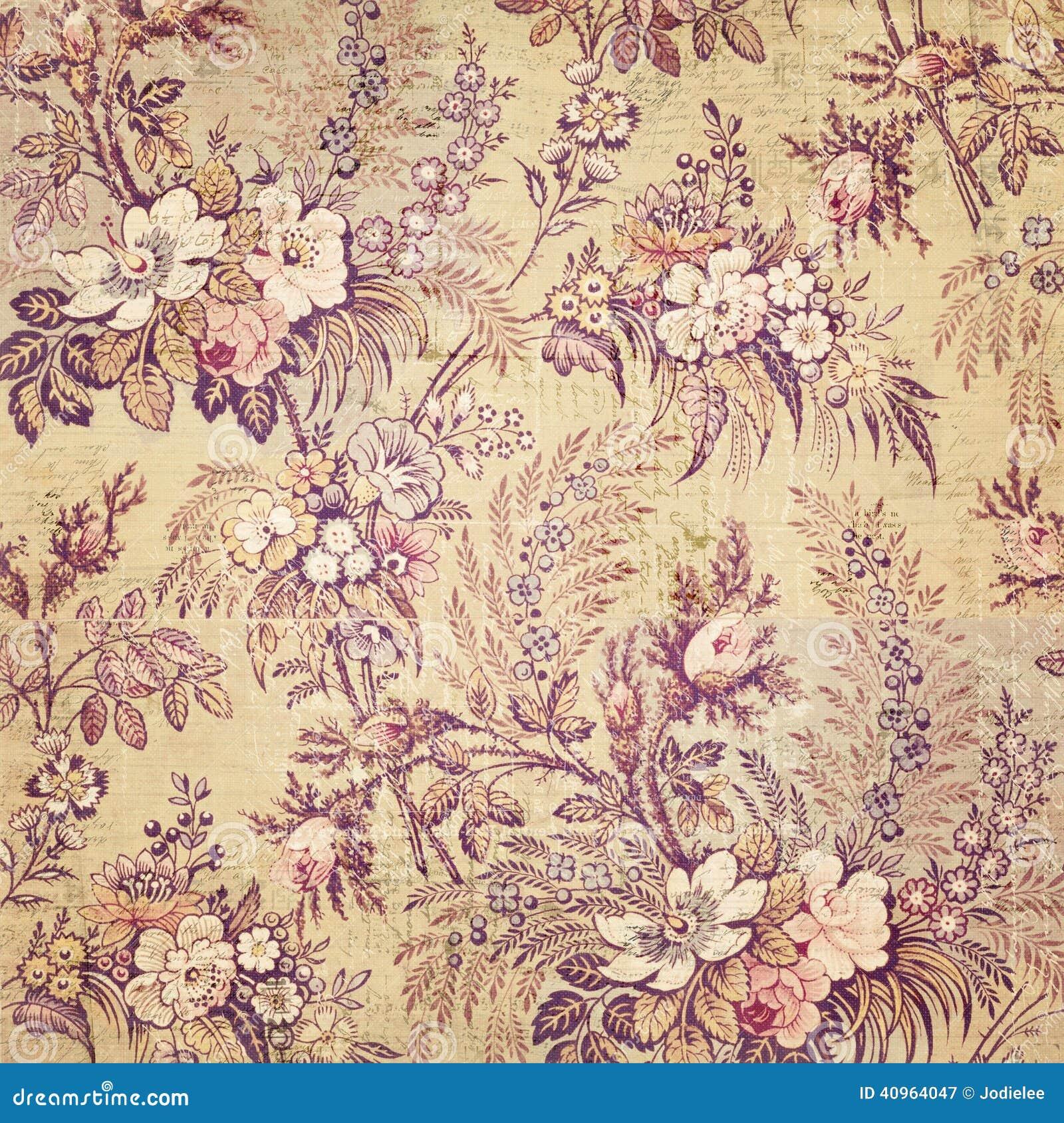 Wallaper chique gasto floral francês do vintage