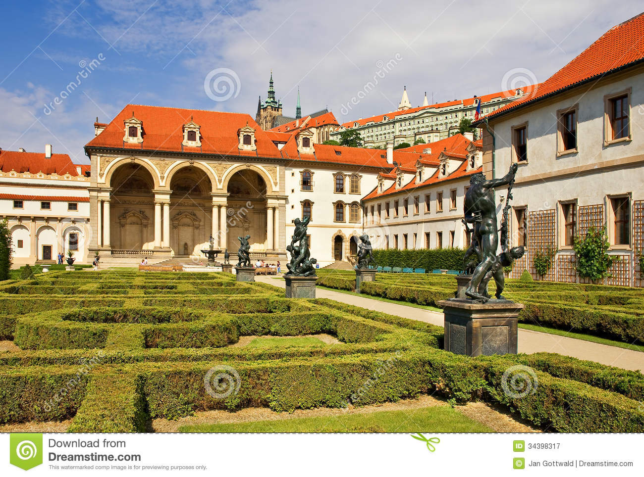 The wallenstein garden editorial photography image 34398317 for Jardines wallenstein