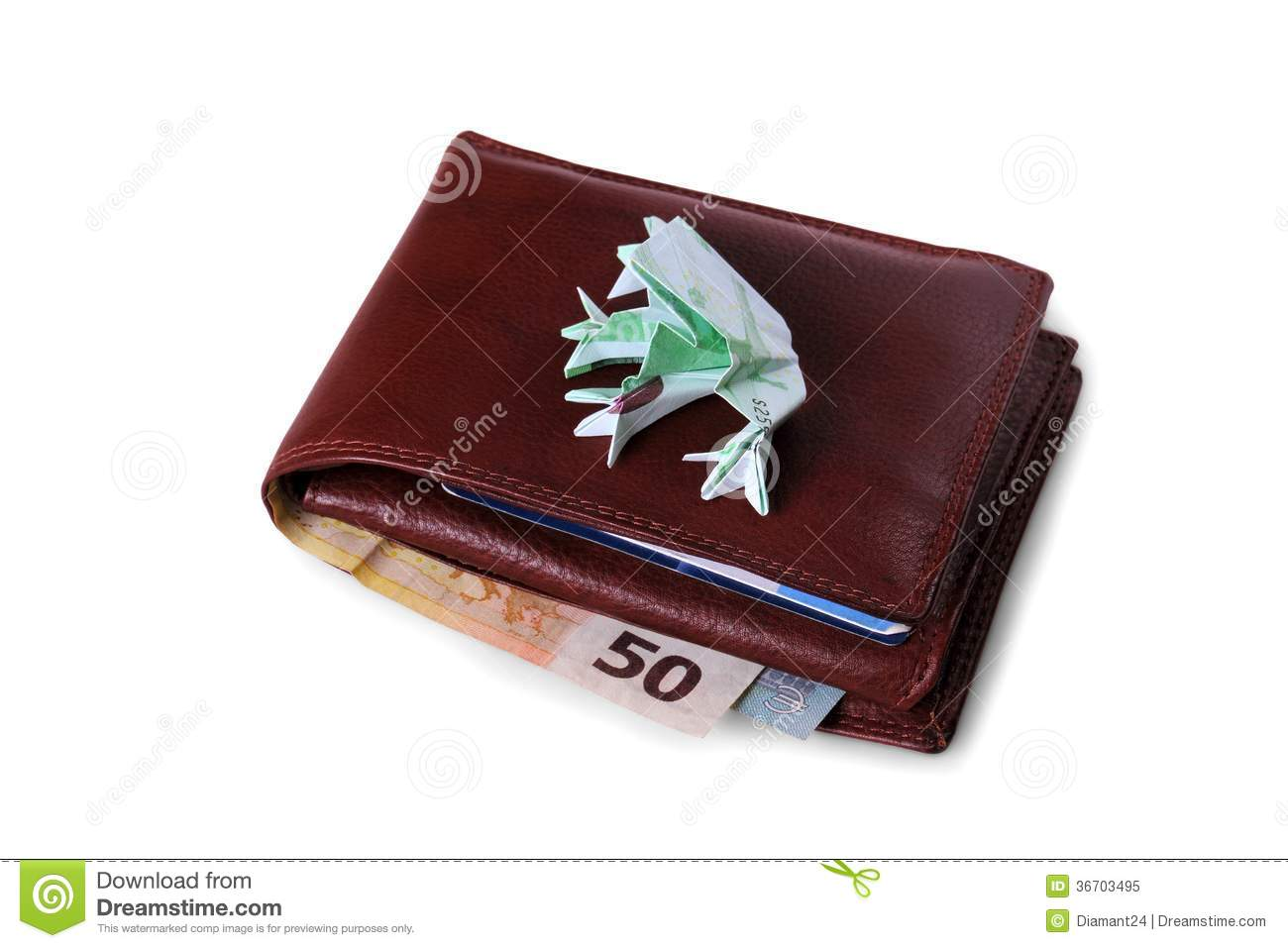 Wallet with Euro bills and Wallet Full Of Hundreds