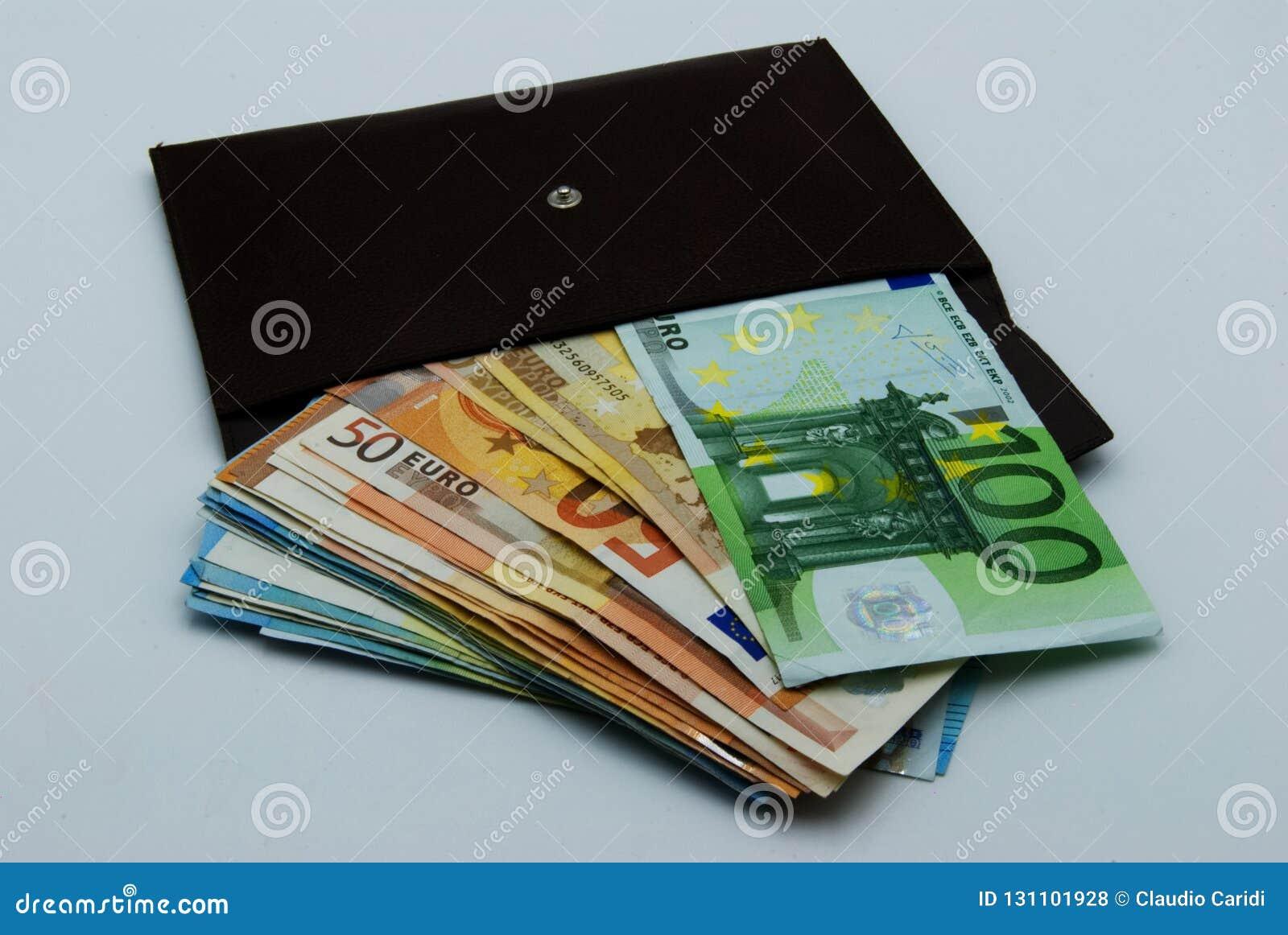 A wallet full of cash money