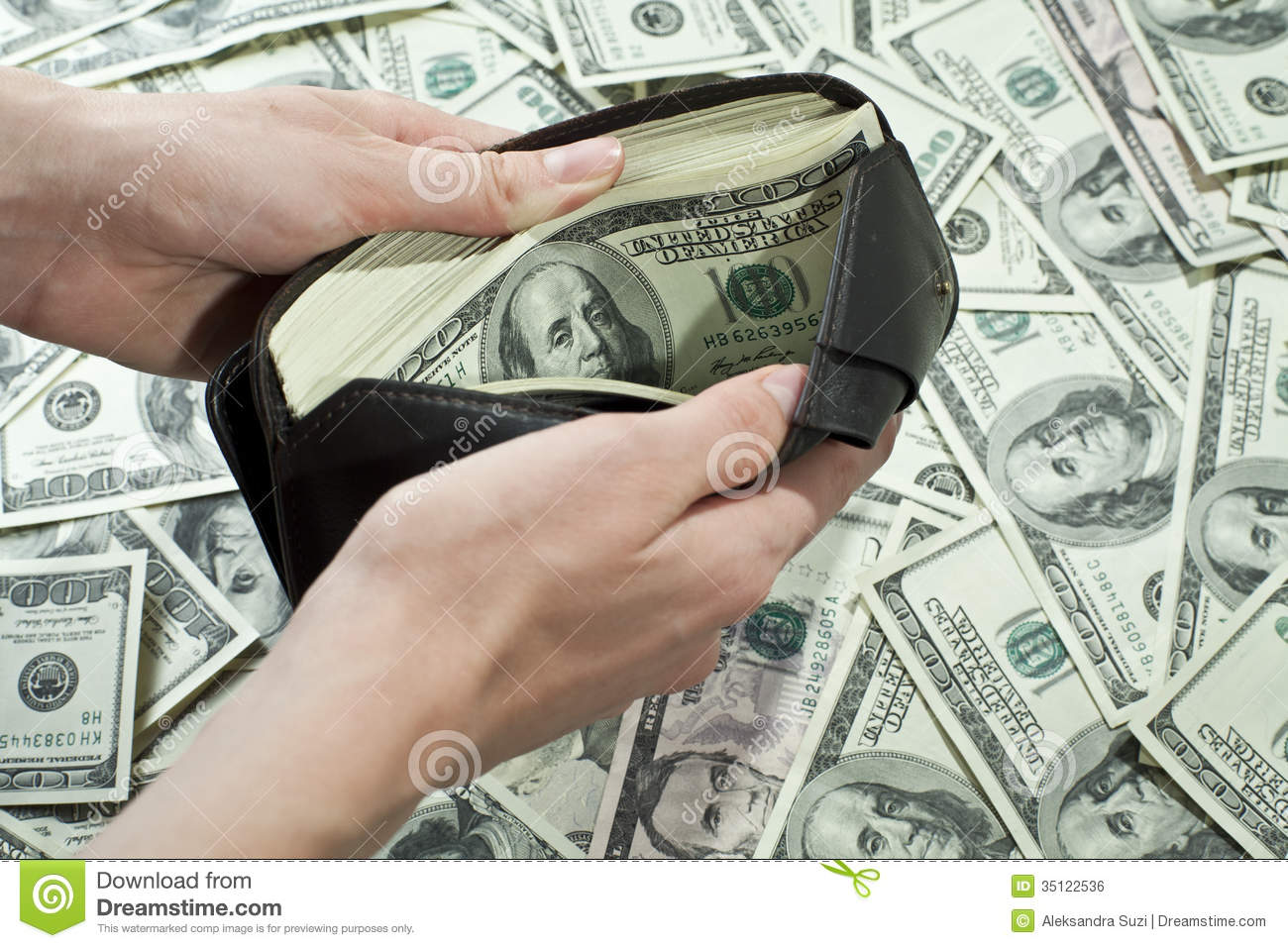 Wallet Full Of Money Royalty Free Stock Image Image