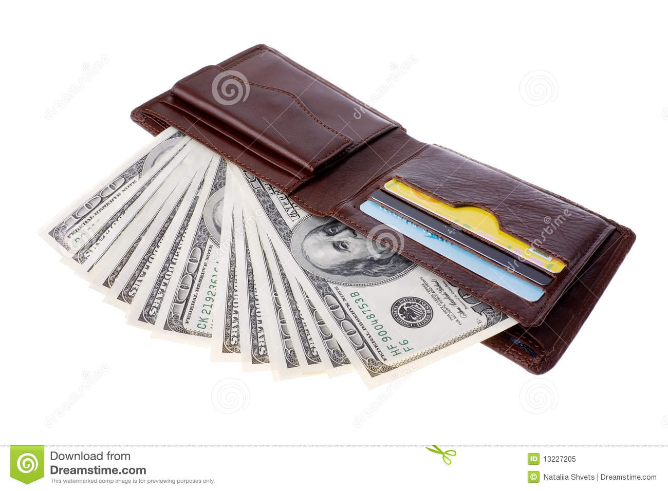 wallet with money stock image image of isolated ideas 13227205