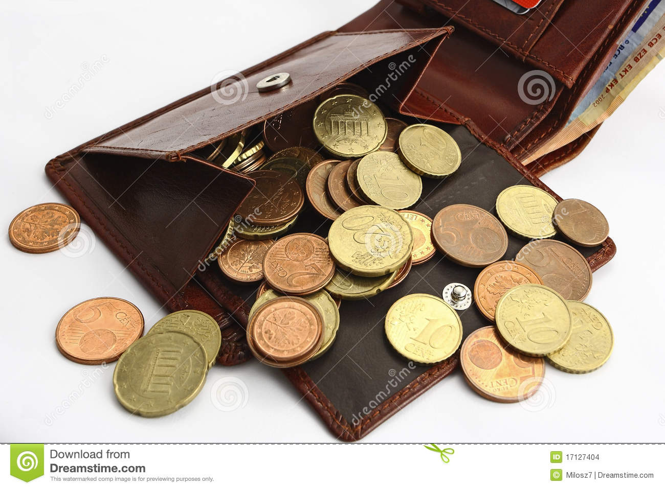 wallet with money stock photo image of money savings 17127404
