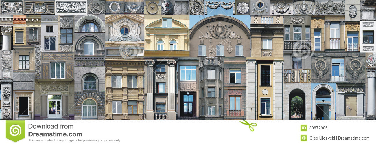 Wallpaper Vintage Architectural Elements Stock Photo