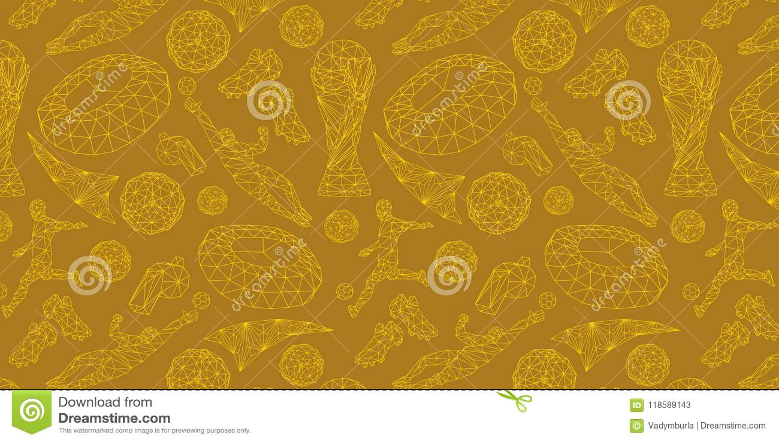 Wallpaper Background Pattern Soccer Stock Illustration