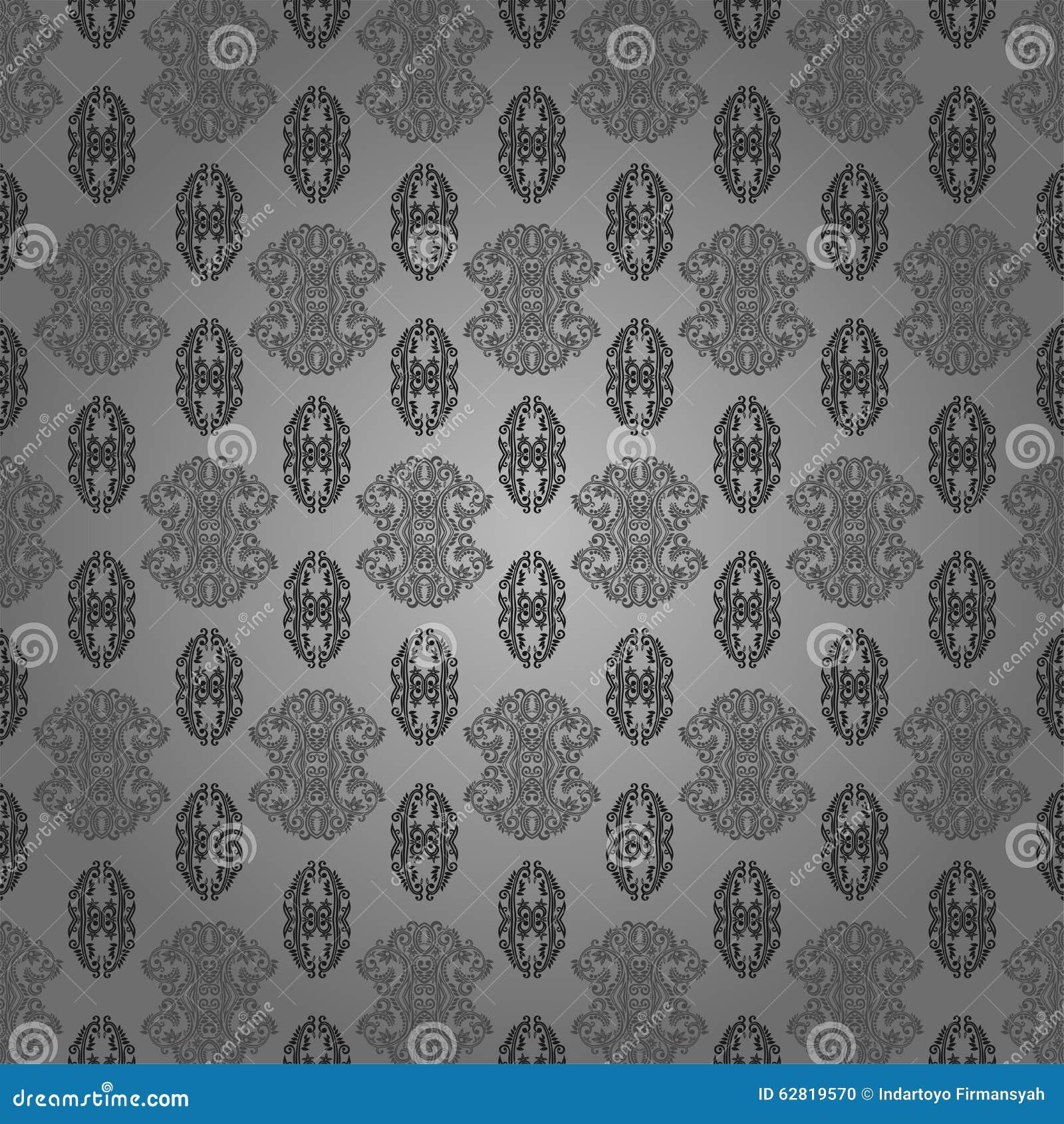 Wallpaper Batik Modern Stock Illustration