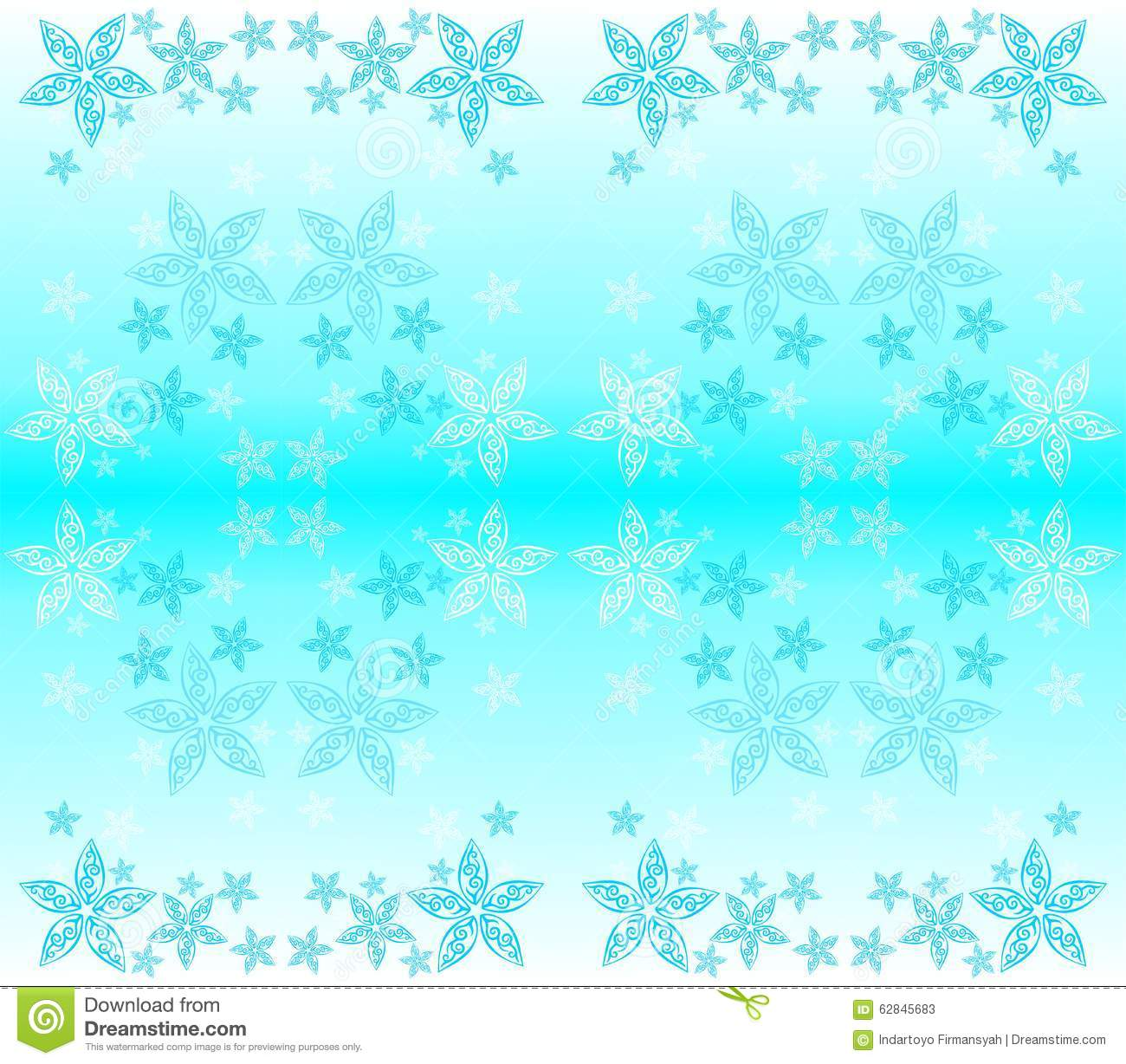 Wallpaper Blue Tosca Star Ornament