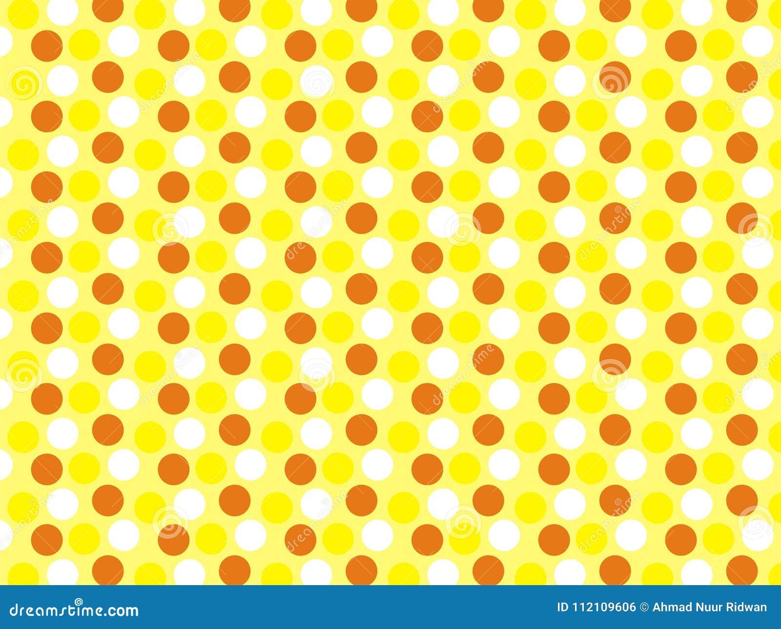 Polcadot Art 3 Colors Yellow Wallpaper Stock Illustration ...