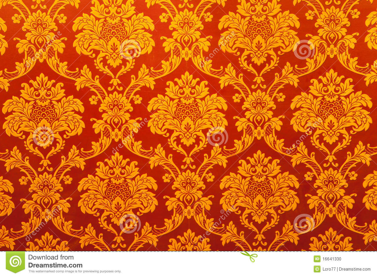 Vintage Indian Golden Wallpaper
